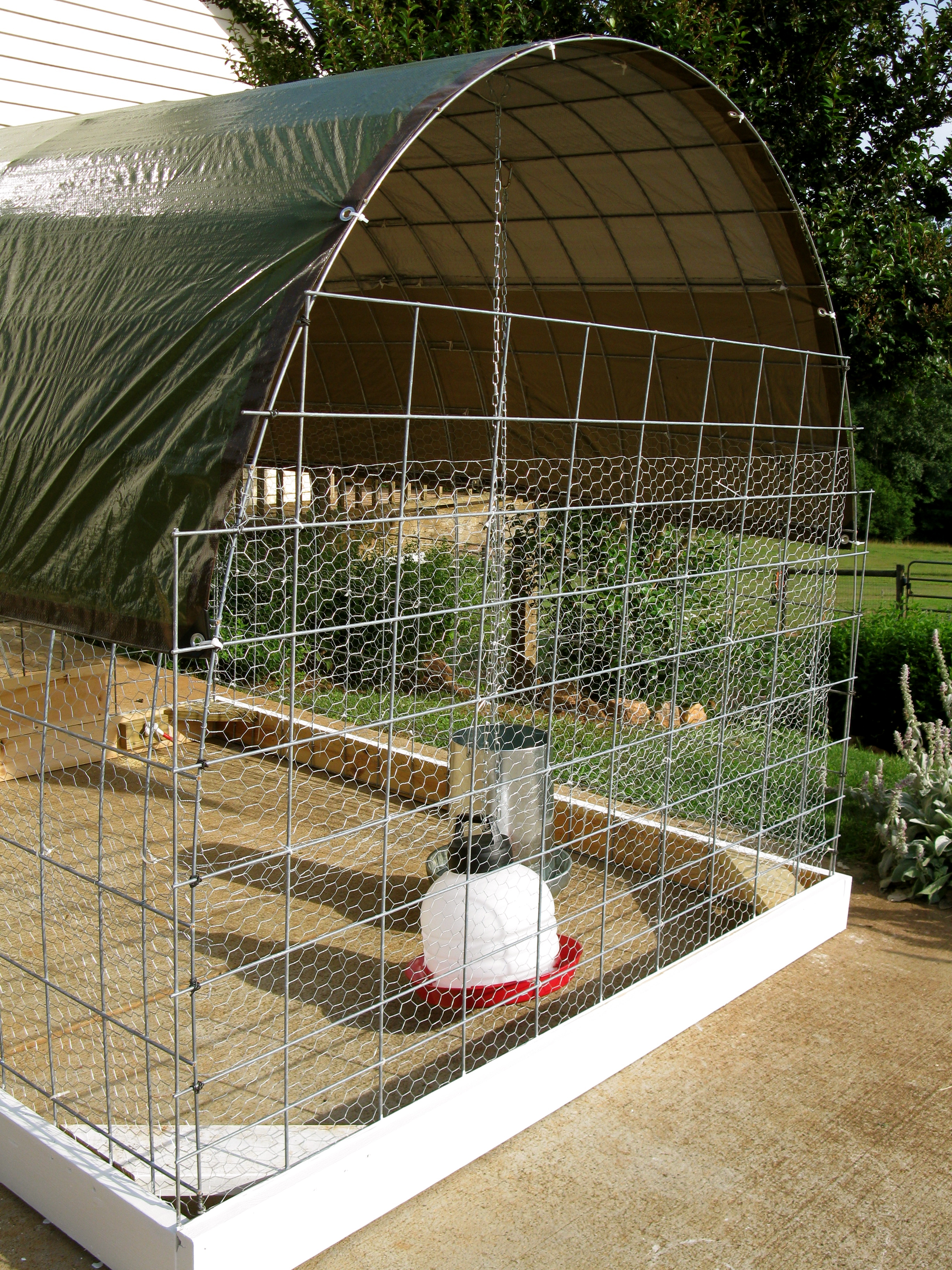 New chicken tractor lazy b farm 39 s blog for Big chicken tractor